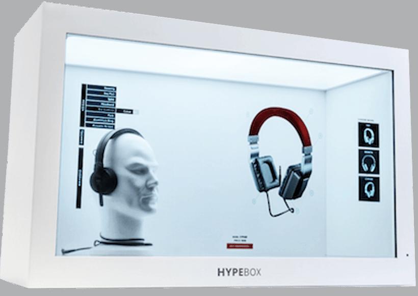 Vetrine Lcd interattive | Hypebox | Totemmultimedia