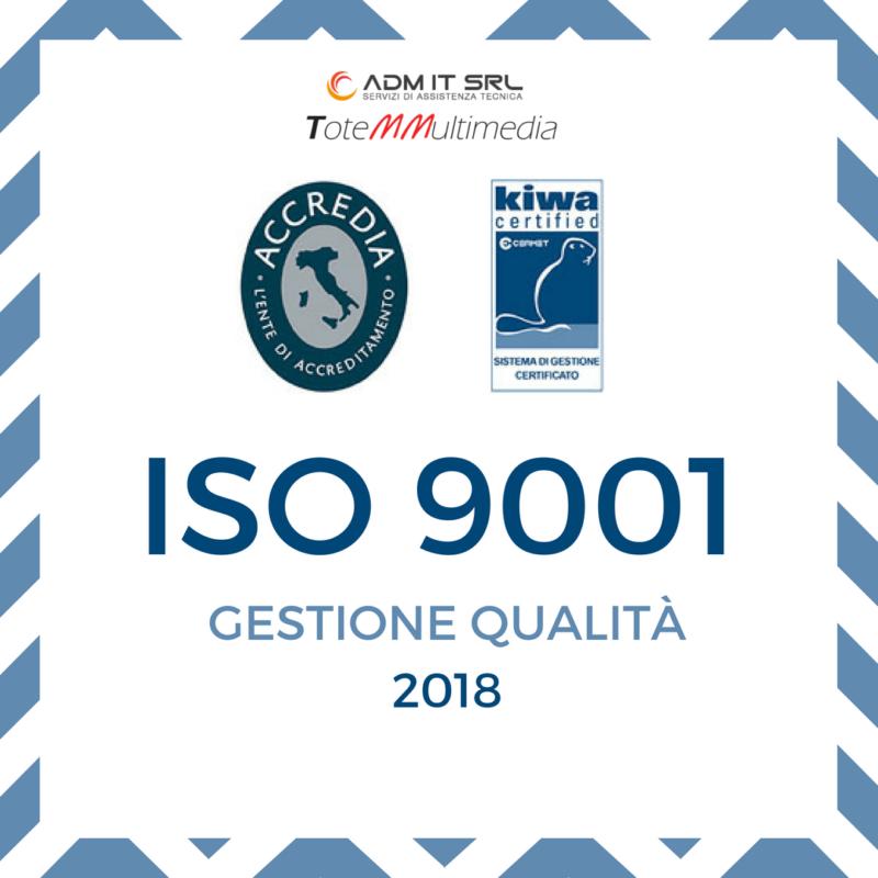 Admit ISO 9001 gestione qualità