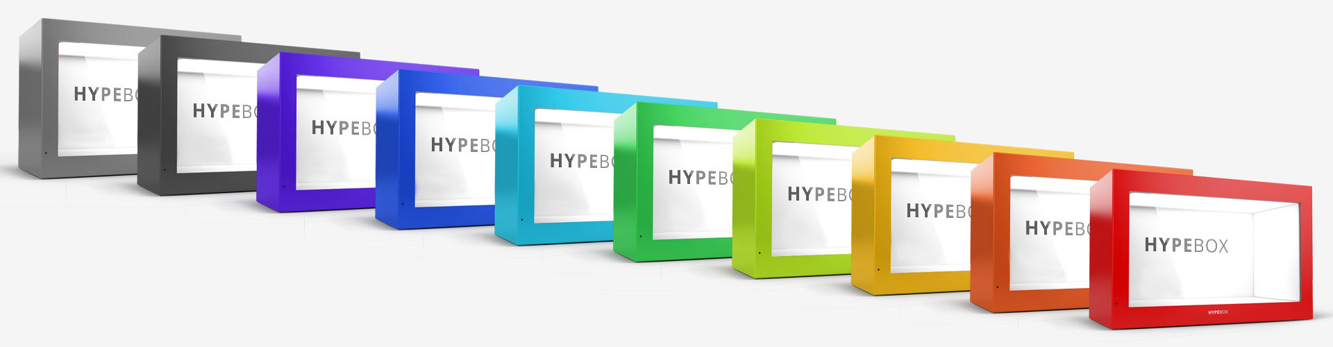 Hypebox vetrina interattiva colorata